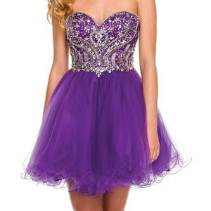 NWT Strapless Prom dress w/ Rhinestones